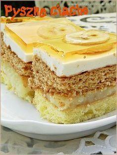 Pyszne ciacho Polish Desserts, Polish Recipes, Holiday Desserts, Sweet Desserts, Anko, Different Cakes, Happy Foods, Russian Recipes, Cake Tins