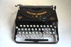 Very Rare Typewriter  Klein Adler 2  by WorkingTypewriters on Etsy