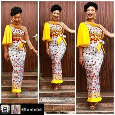 We've chosen some Trending Ankara gowns which can make you look outstanding in the crowd. Here come the trending Ankara gowns for you. African Attire, African Wear, African Women, African Dress, African Style, Kente Styles, Latest African Fashion Dresses, African Print Fashion, Skirts
