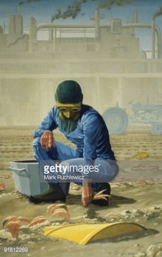 Fine art : Illustration of a man in work clothes