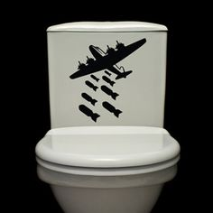 dropping bomb decal for the toilet...really nice hahahaha...