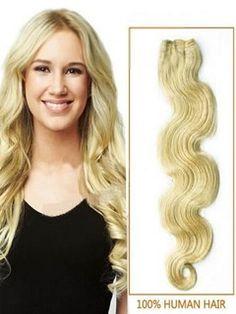 Bleach+Blonde+Body+Wave+Human+Hair+Wefts+100g