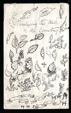 William Morris sketches. He was an original member of The Artists Rifles.