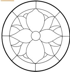 Draw Flower Patterns Stained Glass Window Coloring Pages - AZ Coloring Pages Stained Glass Patterns Free, Stained Glass Designs, Stained Glass Projects, Free Mosaic Patterns, Free Pattern, Cross Patterns, Flower Coloring Pages, Mandala Coloring Pages, Colouring Pages
