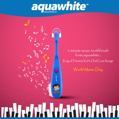 This Music Day wake up to the Jingle of Muzica Toothbrush. World Music Day, Herbal Toothpaste, Character Base, Gift Hampers, Herbalism, Aqua, Events, Herbal Medicine, Gift Baskets