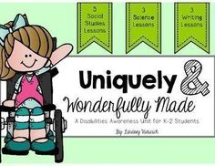 These disabilities awareness activities are designed for kindergarten, first grade, and second grade students. These activities give kids an opportunity to develop an understanding of how our differences make us unique!