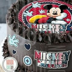 Edible image for birthday cake topper. Birthday Cake Toppers, Cupcake Toppers, Cupcake Cakes, Mickey Mouse Cake Topper, Edible Printing, Wafer Paper Cake, Edible Cake, Paper Flowers, Party