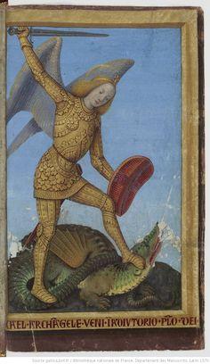 Medieval Dragon, Medieval Art, Renaissance Art, Medieval Manuscript, Illuminated Manuscript, Charles Viii, Saint George And The Dragon, Kunst Online, Angel Images