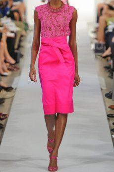 Oscar de la Renta   I'm a lover of anything pink