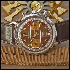1970s SPORTING [Swiss] Vintage Racing Chronograph Watch 17j HW Valjoux Cal. 7734 | eBay