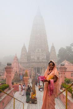 Bodh Gaya Pilgrim , India - un des quatre lieux saints du bouddhisme -