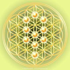 Flower of Life with Tree of Life by Cosmic Armour - Anna Kumashov    #sacredgeometry  https://www.elianacorina.com/