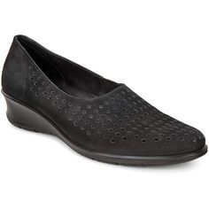 6192e7ad0 A Comfort Slip-On Made Of Rich Nubuck With Perforated Detailing.Leather  LinedDirect Injected. Shoe Mill