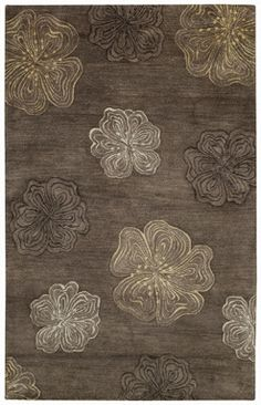 Graphique Hibiscus Hand Tufted Rugs -- an earth tone version of Spring #contemporary #brown