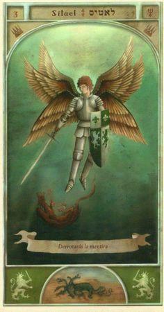 (3) SITAEL (Kabbalistic angel) protects those born 31 March - 4 April, protects against assaults, error and falsehood. (ángel Cabalístico) protege aquellos nacidos 31 marzo - 4 abril, protege contra los asaltos, el error y la mentira.