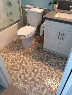Sliced Java Tan and White Bathroom Flooring