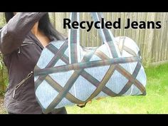 DIY Country Designer Jeans Bag / Recycle Reuse Sewing Project