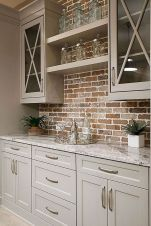 57 Rustic Farmhouse Kitchen Cabinet Makeover Ideas Farmhouse Kitchen Cabinets, Modern Farmhouse Kitchens, Home Kitchens, Kitchen Countertops, Rustic Farmhouse, Farmhouse Style, Rustic Cabinets, Wood Cabinets, Colonial Kitchen