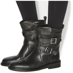 3eecf2d2de7e Office Indicate Buckle Biker Boots (280 BRL) ❤ liked on Polyvore featuring  shoes, boots, ankle booties, ankle boots, black leather, women, black  leather ...