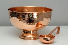Hammered Copper Punch Bowl
