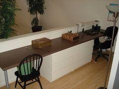 Loft and bedroom with kickass desks