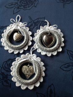 Gordijn ringen omgehaakt