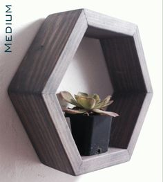 Hexagon Wall Shelf Hexagon Shelves Honeycomb Shelves Geometric Shelves Custom Options by SuzyBDesigns Made with reclaimed wood. Rustic and modern. Geometric Shelves, Honeycomb Shelves, Grey Shelves, Wall Shelves, Hexagon Wall Shelf, Unique Shelves, Water Based Stain, Easy Wall, Industrial Chic