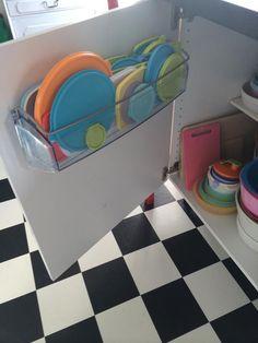 Lockförvaring av kylskåpsfack