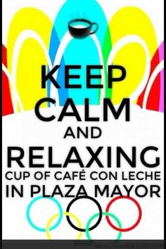 A relaxing cup of café con leche in Plaza Mayor