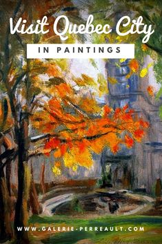 Quebec City has you've never seen it before! See the Old Quebec through amazing paintings from the comfort of your home! Old Quebec, Quebec City, Le Petit Champlain, Amazing Paintings, Art Gallery, Old Things, Tours, Artists, Landscape
