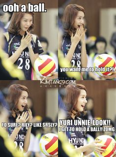 Haha Yoona sure loves them balls :P