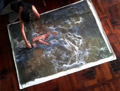 Incredibly Realistic Paintings Of Swimmers By Gustavo Silva Nunez - Hyper realistic paintings nunez