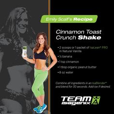 If you're looking to #shake up your #protein this recipe is one way to do it. Give the Cinnamon Toast Crunch shake a try and let me know what you think!
