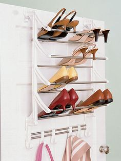 Keep your closet neat and organized with a closet organizer. We researched options for the best closet organizers available, so you can start putting things in order. Shoe Holder For Closet, Over Door Shoe Rack, Shoe Rack Closet, Door Rack, Closet Doors, Shoe Racks, Small Closet Space, Small Closets, Small Space
