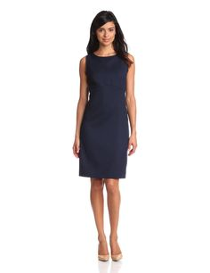 For Classic - a soft sheath. Pendleton Womens Seasonless Wool Beau Soft Sheath, Midnight Navy Worsted, 4
