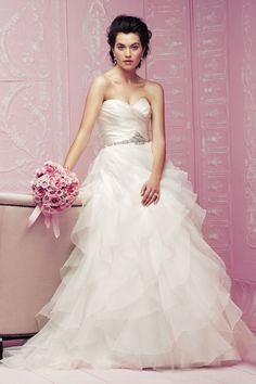 Classic Strapless Wedding Gown