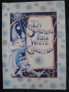 Unused vintage greeting card mary engelbreit christmas talking to unused 2000 vintage greeting card mary engelbreit christmas jack frost m4hsunfo Image collections