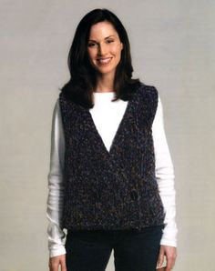 Free Knitting Pattern - Women's Vests: Double-Breasted Vest
