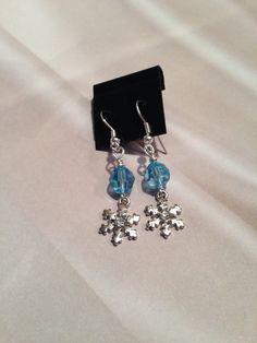 Frozen Earrings  by SCTJewelryDesigns on Etsy