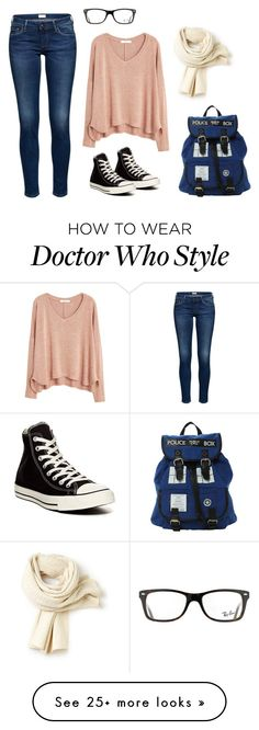 """Untitled #3"" by kat-i-s on Polyvore featuring MANGO, Converse, Ray-Ban and Lacoste"