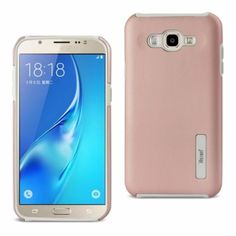 Reiko Samsung Galaxy J7 Armor Dual Layer Protective Case Rose Gold With Shock Absorbing Technology