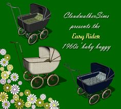Vintage Baby Carriage Custom Content for the Sims 3 #sims #Sims_3 #Sims #the_Sims #CC #Custom_Content