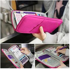Travel Wallet Passport Holder Document and Card Organizer - A Thrifty Mom