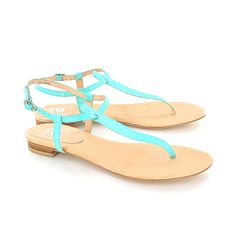 Austique Thong Sandal Turquoise ($56) ❤ liked on Polyvore