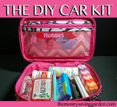 DIY Car Kit. This would really come in handy (in the middle console or glove compartment) for the smaller things!
