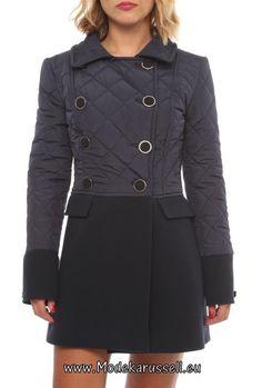 Designer Damen Mode Mantel Joanas Schwarz - Taube