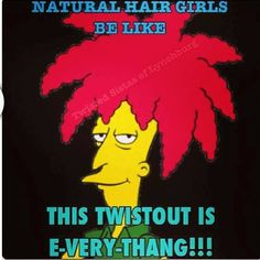 Sideshow Bob is my hair idol #NaturalHair. To learn how to grow your hair longer click here - http://blackhair.cc/1jSY2ux