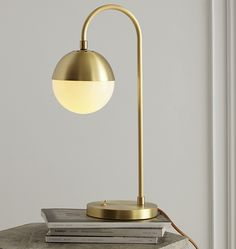 Pared down to the essentials, our Pedestal Table Lamp shines a light on streamlined style with its gleaming bulb perched atop a slim metal column. Its energy-efficient LED bulb offers a longer lifespan. Bedside Lamp, Desk Lamp, Table Lamps, Cedar And Moss, Bright Decor, Handmade Lamps, Unique Wall Decor, Ceiling Medallions, Vintage Lamps