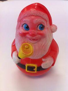 Vintage Plastic Roly Poly Santa Claus Toy by 23burtonavenue, $10.00