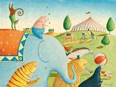Circus Parade Canvas Art